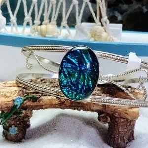🆕🐳 Triplet Fire Opal Bracelet